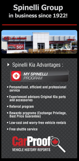 preowned cars Montreal - Spinelli Kia